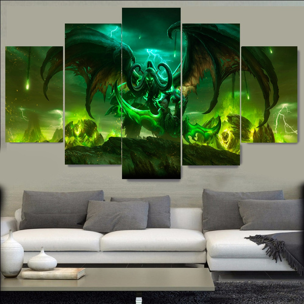 Wish | World of Warcraft Painting Canvas Art Print Painting Wall ...