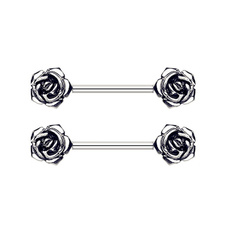 03a7578807dc48 2pc Sythetic Opal Mandala Sunflower Surgical Steel Nipple Piercing ...