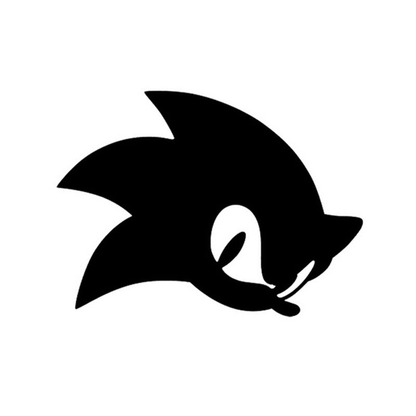 Hot Sale Laptops Luggage Stickers 13 5 10cm Games Sonic The Hedgehog Car Sticker Decals Cartoon Series Car Stickers And Decals Black Silver Red White Wish