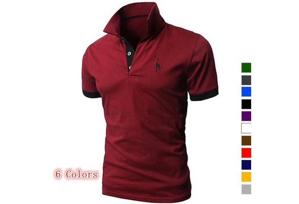 new men's polo shirt men's personality cotton t shirt men's summer short sleeved t shirt