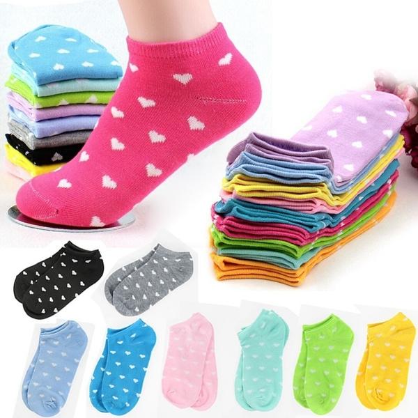 cute, Cotton Socks, Cotton, Heart