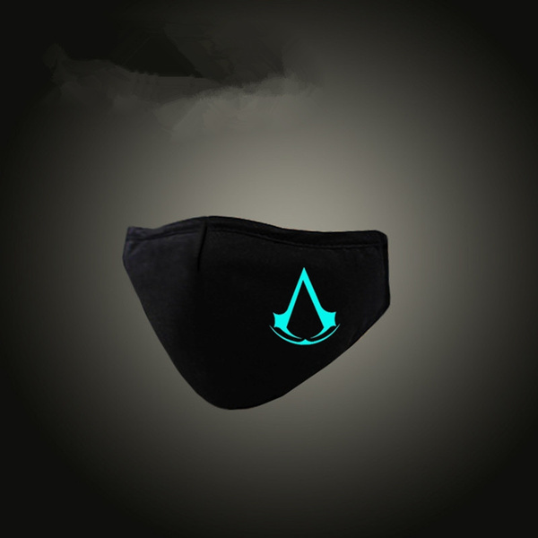 Black Anti Dust Masks Led Assassin S Creed Luminous Respirator