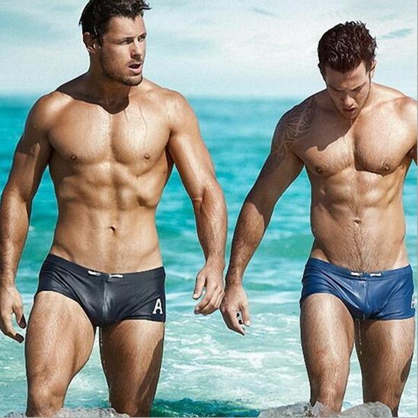 Man In Zwembroek.Austinbem Swimwear Men Breathable Swimming Trunks Zwembroek Heren