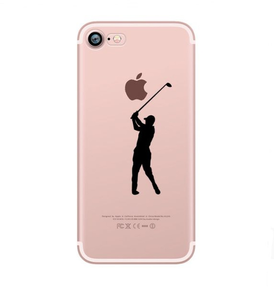 factory authentic 3e62c c617c phone cases baseball football tennis Golf Athlete Silhouette Clear soft  silicone cover for Apple iphone 7 7plus 5S SE 6 6S 6plus