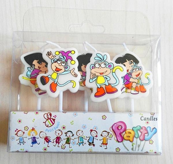 Groovy Children Lovely Dora Cake Bougies 5Pcs Set Happy Birthday Candles Birthday Cards Printable Benkemecafe Filternl