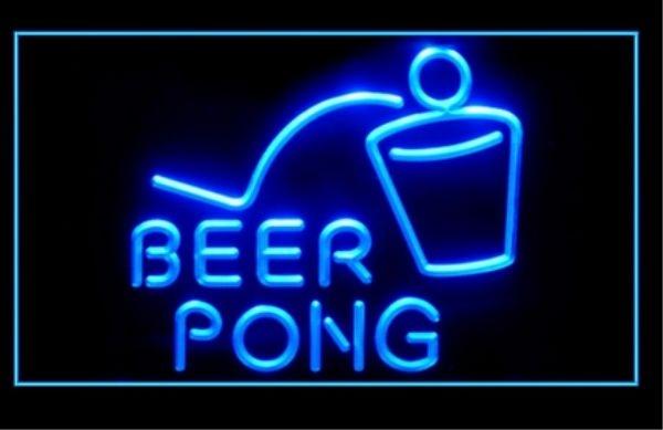 Beer Pong LED Neon Light Sign