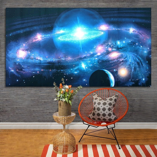 43 24 Inch Andromeda Galaxy Stars Universe Space Silk Poster Art Wall Home Decor Paints