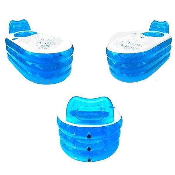 Wish | 2 Size Blowup Adult Spa PVC Folding Portable Bathtub Warm ...