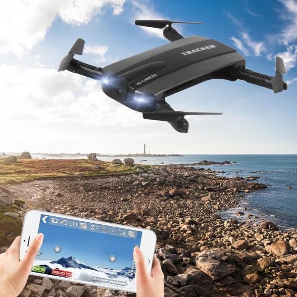 New JXD 523W Tracker Mini Altitude Hold 720P HD Camera Altitude  Hold&Headless Mode WIFI 4CH FPV RC Quadcopter Drone Selfie Foldable JXD523