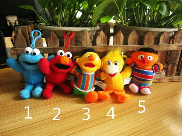 sesame street Elmo ernie bert big bird plush doll ornament toy new set of  5pcs
