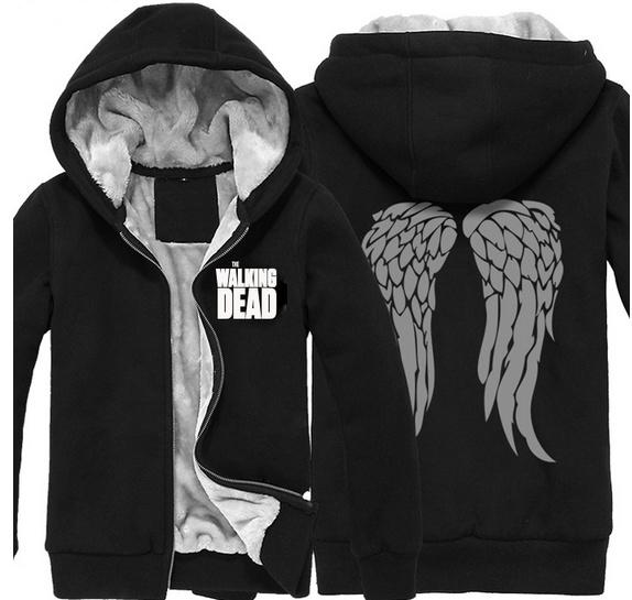 The Walking Dead Hoodie Jacket Winter Men Women Thickened Warm Sweatshirt Coat