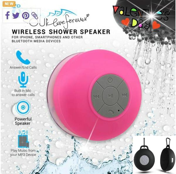 Waterproof Wireless Bluetooth Mini Speaker SHOWER Car Suction Hands Free Mic New