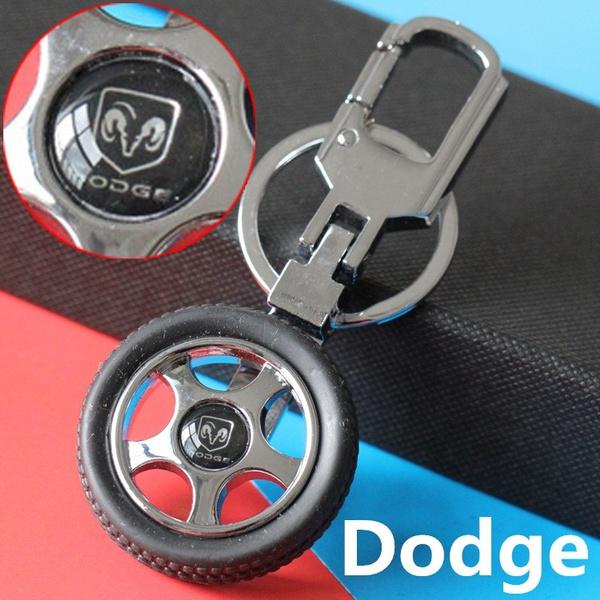 Car Logo Creative Rubber Wheel Tyre Tire Keychain Key Ring For All Dodge Journey X5 Caliber Stratus Nitro Neon Ram 1500 Charger Caravan Challenger