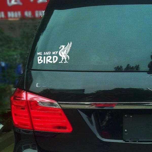 Geek me and my bird liver bird liverpool car wall laptop window vinyl decal auto stickers