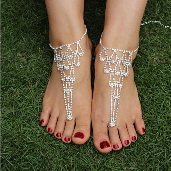 Sandals, Jewelry, Chain, anklefoot
