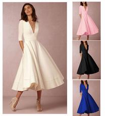 vneckpartydresse, Vintage Dresses, Vintage, vintagecasualdres