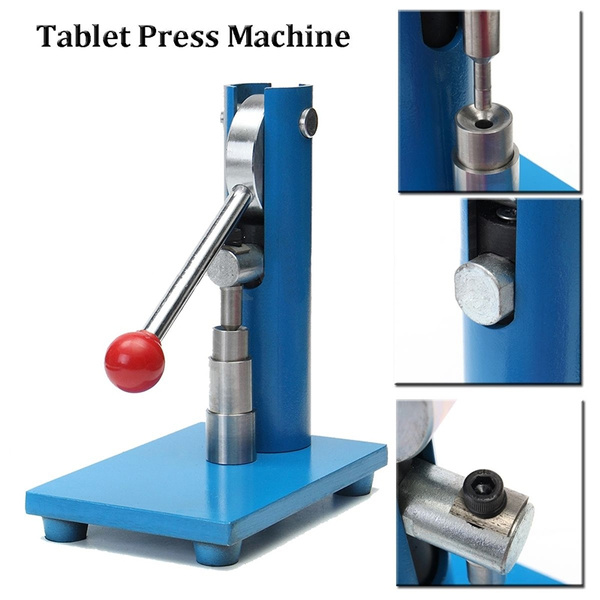 6mm Tablet Press Machine Manual Powder Hand Pressing Pill Making Home Lab  Use