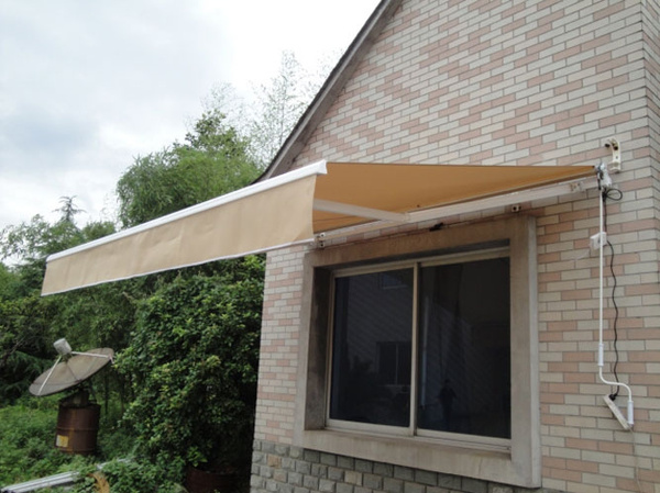 Wish | DIY Manual Patio Awning Deck Retractable Shade Sun Shelter Canopy