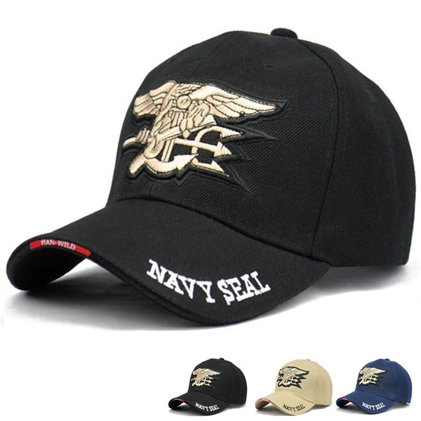 1 Piece Navy Seal Team Logo Cap Military Hunting Camping Outdoor Adjustable  Baseball Snapback Caps