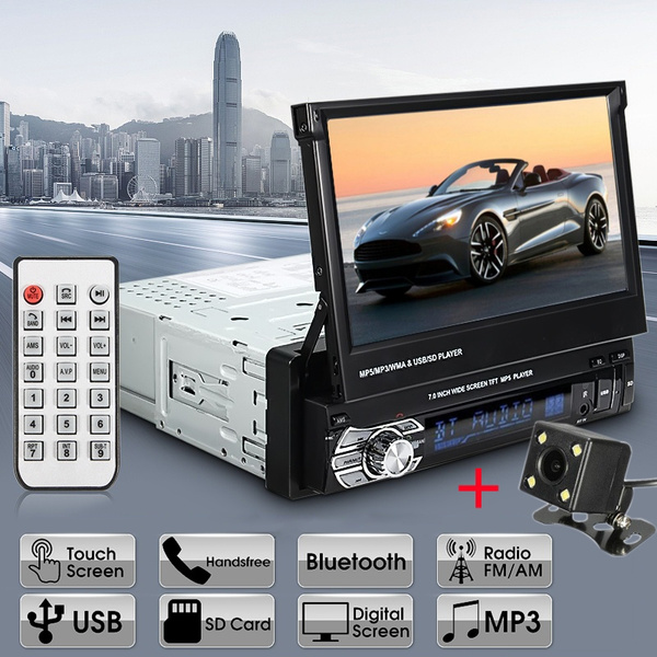 7 Inch Retractable Car Stereo Audio Bluetooth Mp5 Mp4 Mp3 Player