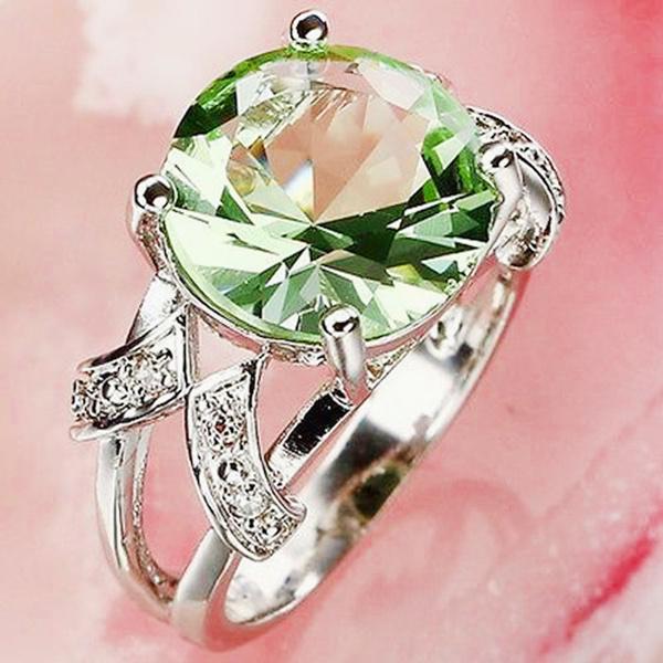gemstone jewelry, DIAMOND, 925 sterling silver, wedding ring
