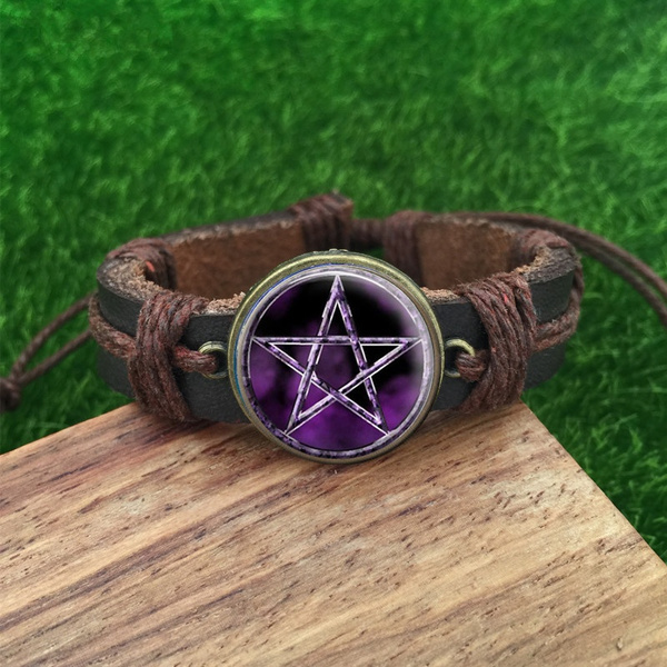 wiccan, Jewelry, wicca, leather