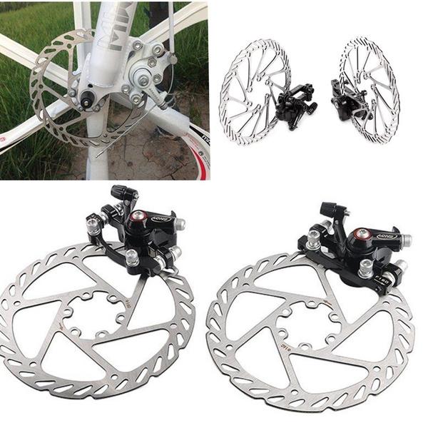 Mountain Bike Road Bicycle 160mm Rotors Front Rear Disc Brake Caliper Set Kit