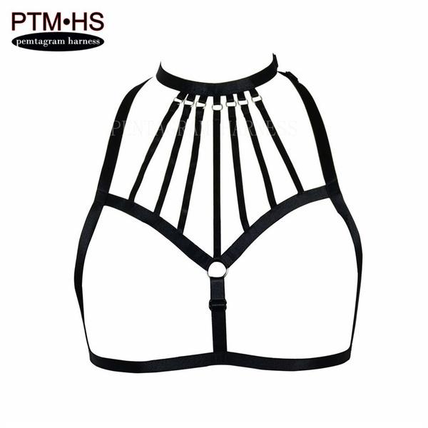 Corset Gothic Harness Bra Pentagram Cage Bra Harness Lingerie Lingerie Belt