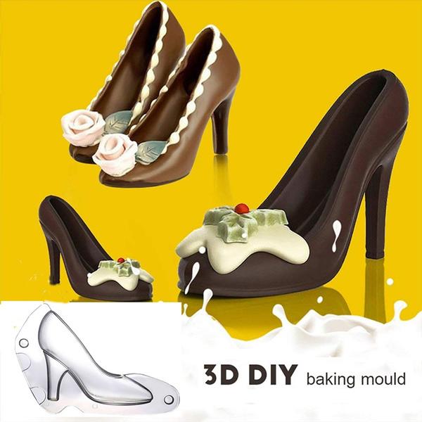 3D High Heel Shoe Chocolate Candy Mold 8