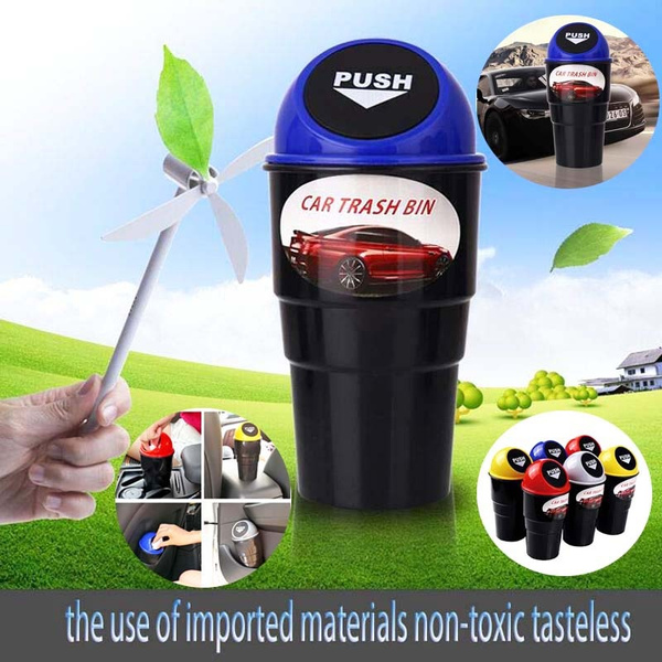 Autos Basket Trash Bag Car Can Litter Garbage Leak Proof Bin Wastebasket Holder