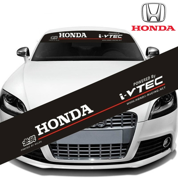 1 x Reflective HONDA i-VTEC Mugen Logo Car Window Sticker Front Rear  Windshield Sunshade Windscreen Decal for Honda Civic CR-V Accord Odyssey  Pilot