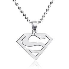 supermannecklace, Jewelry, 925 silver necklace, Stainless Steel