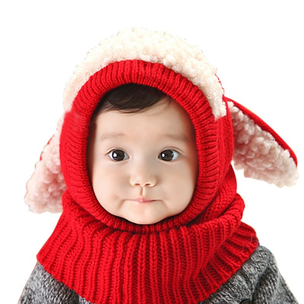 e1cd496b8c5 ... Winter Hat Warm Infant Beanie Cap For Childre  new list 008bf 46b51  Wish Ley Cute Child Cotton Wool Cashmere Puppy Rabbit Ears Beanie Hat ...