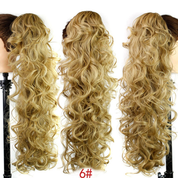 clawclipinponytailhairextension, ponytailshairextension, longwavycurlyponytail, pony