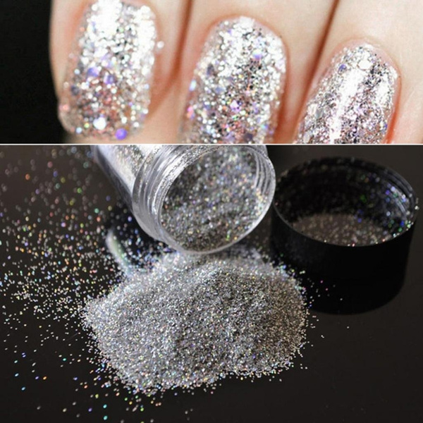 Wish | 10g Holographic Iridescent Fine Glitter Dust Powder Women\'s ...
