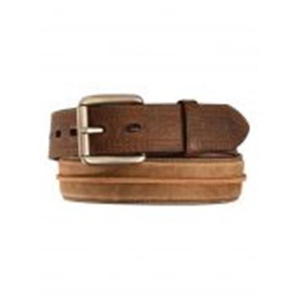Ariat Mens Brown Tan Billet Belt