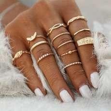 Jewelry, gold, ringset, vintage ring