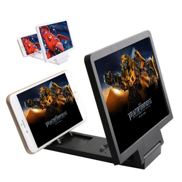 8 2 Enlarge 3 Times Of Mobile Phone Screen Magnifier Amplifier Hd Expander Stand Holder For 3d Movie Video Display