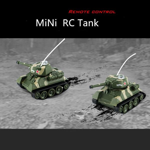 Mini RC Tank Toys Remote Control Army Tanks Toys RC Flashing Battle Tank  Toy Remote Tank RC With Radio Controller