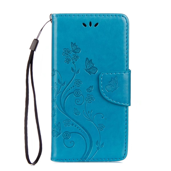 reputable site 13dde 91b97 Galaxy Xcover 4 Case, [FREE GIFT:Screen Protector] [Wrist Strap] [Stand  Function] Flower Pattern Premium PU Leather Wallet Case Built-in Card Slots  ...