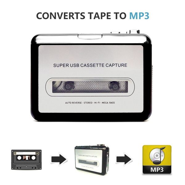 USB Cassette Player Convert Your Old Mix Tapes and Cassette to MP3 to  Playback on iPod/MP3 Player or Burn to CD Compatible with Laptops and  Personal