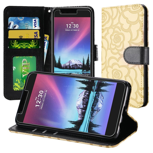 LG Fortune Case , LG Risio 2 Case Rubber Durable Hard&Soft Rugged Shell  with Built in Kickstand