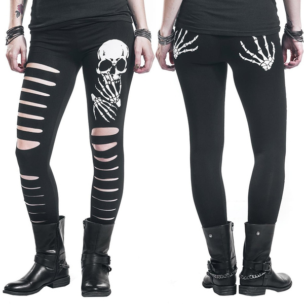highelasticlegging, Leggings, skinny pants, skullheadsprint