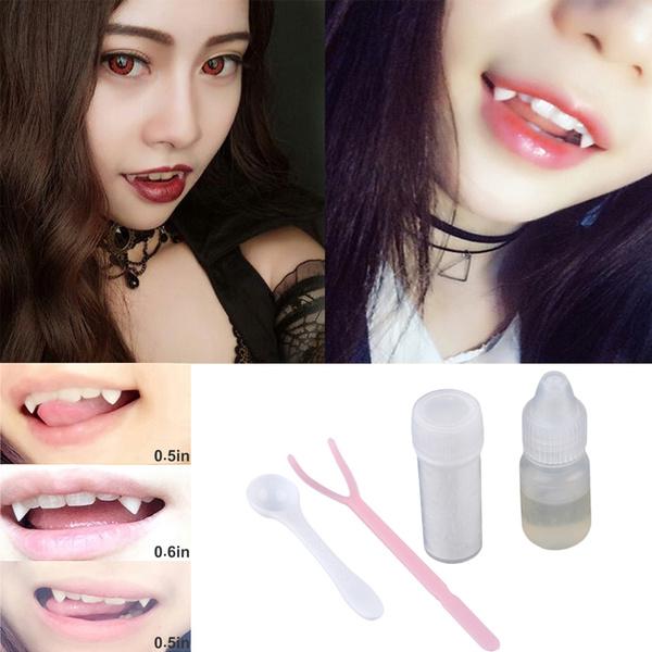 Bloodcurdling Vampire Werewolves Fangs Fake Dentures Teeth Costume Halloween