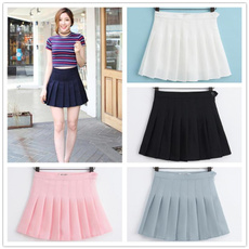Mini, summer skirt, high waist, A-line