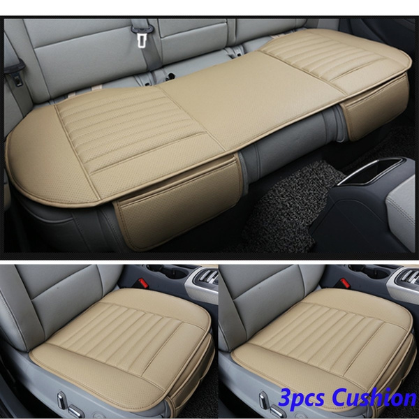 Breathable PU Leather Bamboo Car Seat Cover Pad Mat Auto Chair Cushion Universal