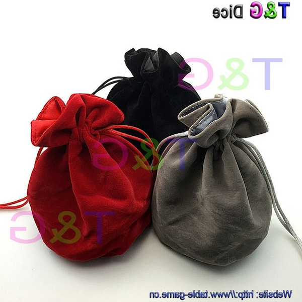 Top Quality Dice Bag Jewelry Ng Velvet 6 5 Drawstring Bags Pouches For Gift Board