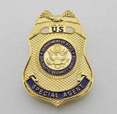 cia, policebadge, judicial, brooch