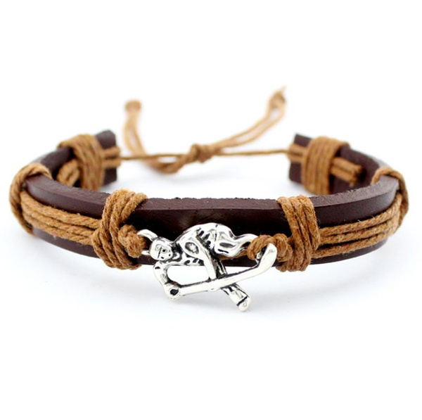 Bracelet Leather Woven Wristband Bangle