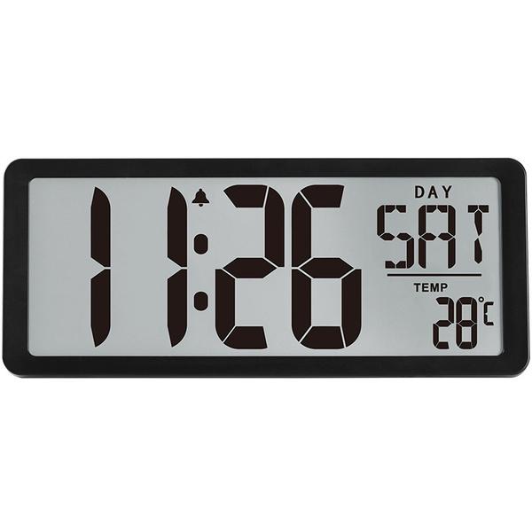 TXL Jumbo Digital Large Screen Display Alarm Clock ,Wall Clock with  Date/Time/Temperature Display,Battery Powered,Silver, Gold, Black, Deep Grey